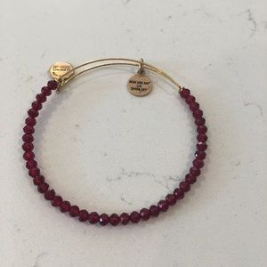 Red and gold alexi and ani bracelet